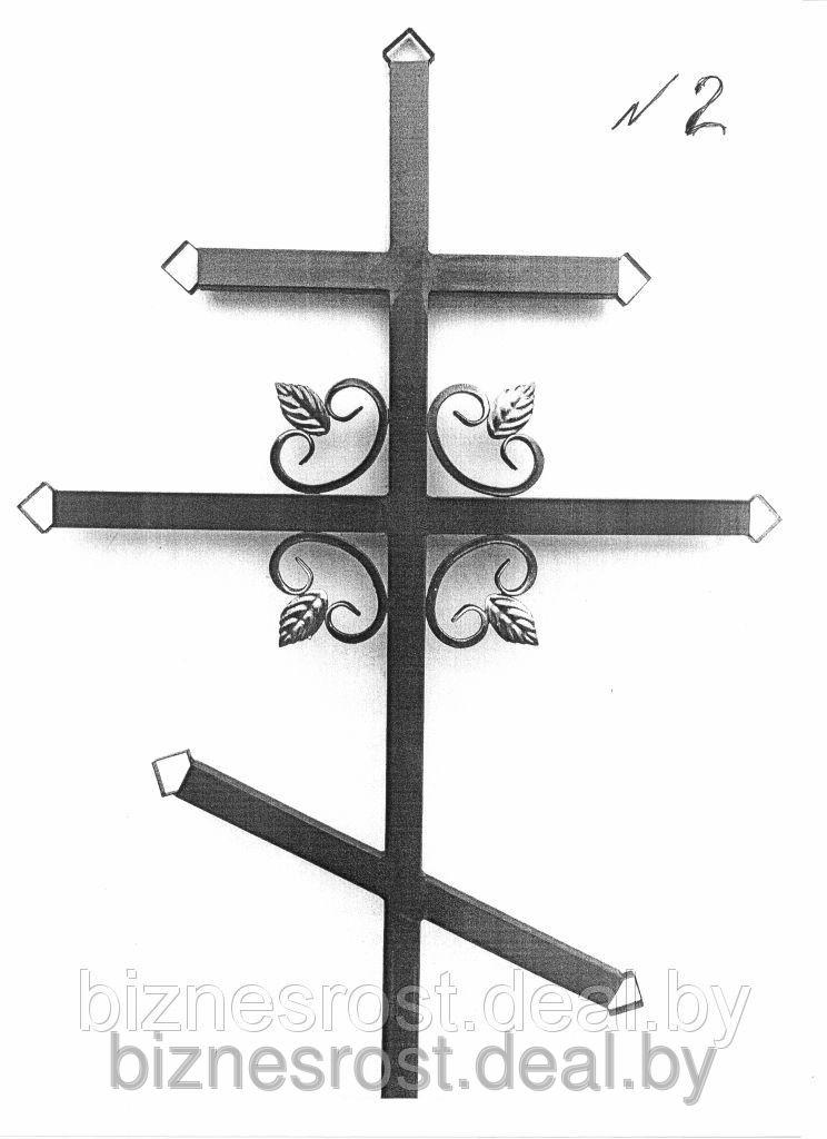 Крест металлический №2