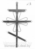 Крест металлический №3