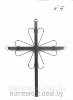 Крест металлический №4
